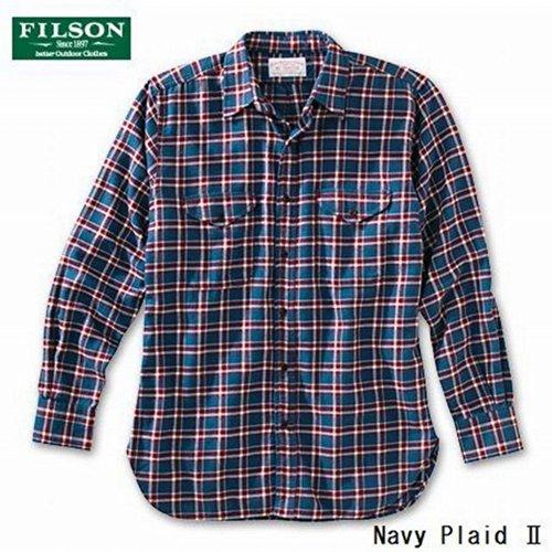 FILSON(フィルソン)Seattle II Shirt - Flannel シアトルIIシャツフランネル 10398 (L, Navy Plaid II)