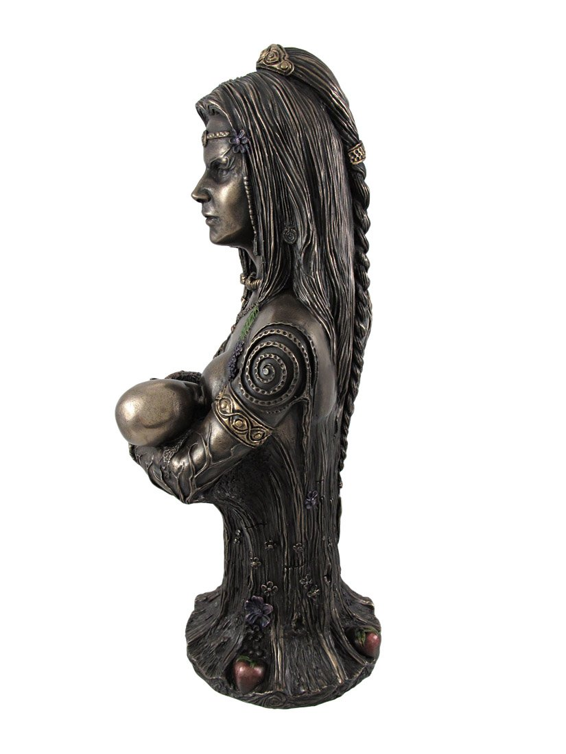 Bronze Breastfeeding Goddess Danu Mother Earth Bust Statue by Things2Die4