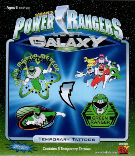 Power Rangers Lost Galaxy Temporary Tattoos Made in USA! Saban Entertainment