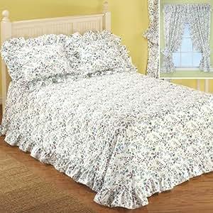 """Plisse Bedspread Collection - Queen Bedspread (104""""x118""""), Color Lilac"""