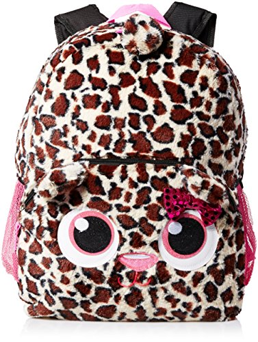 Accessories 22 Girl's Plush Critter Backpack Cheetah Girl, Multi, One Size