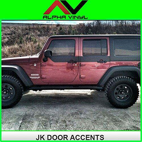 Jeep Wrangler Jk Door Skins Decal Matte Black W/ Install Kit Fit 4 Door Jeep Jk 2007-2015