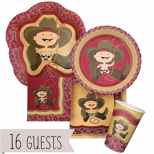 Little Cowboy - Birthday Party 16 Big Dot Bundle front-704652