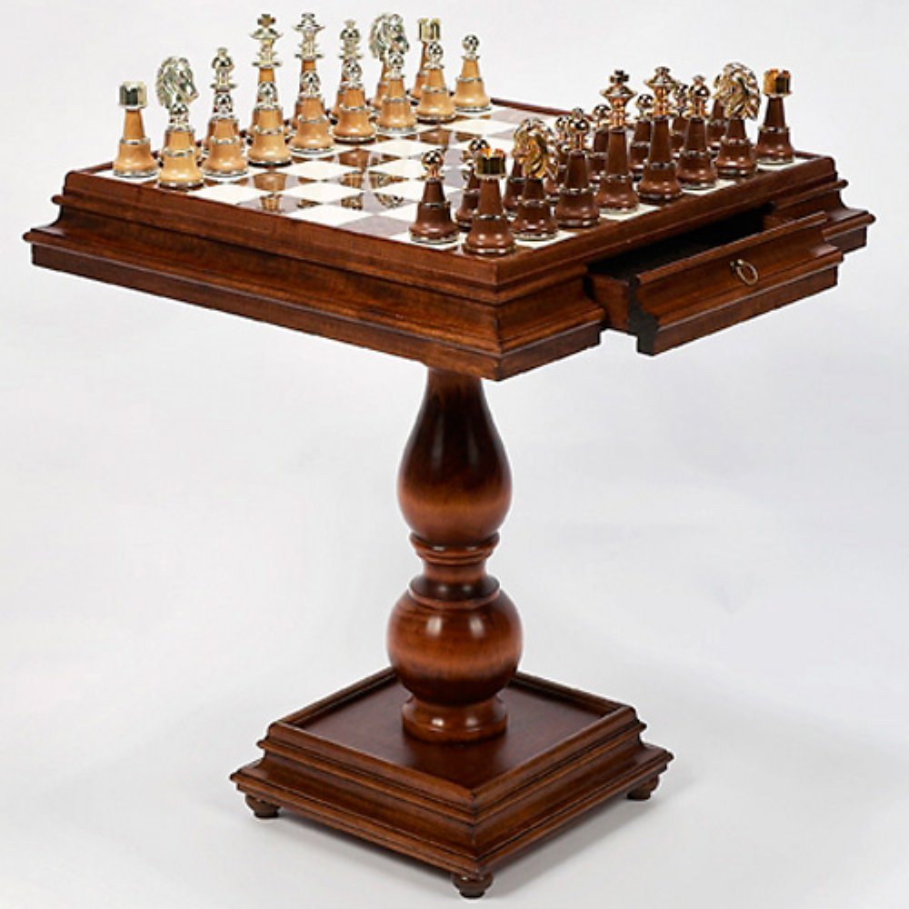 Wooden Chess Table ~ Chess table and chairs furniture home game tables