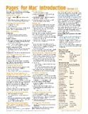 Pages for Mac Quick Reference Guide: Introduction (Cheat Sheet of Instructions, Tips & Shortcuts - Laminated Card)