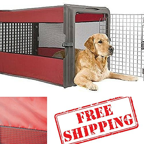 collapsible dog cratepop up dog cratedog cages for carspet cratesbest dog carrierdog travel cratelarge dog flat for easy storage - Collapsible Dog Crate