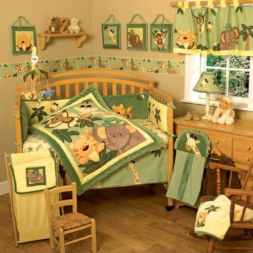 Jungle Crib Bedding 8683 back