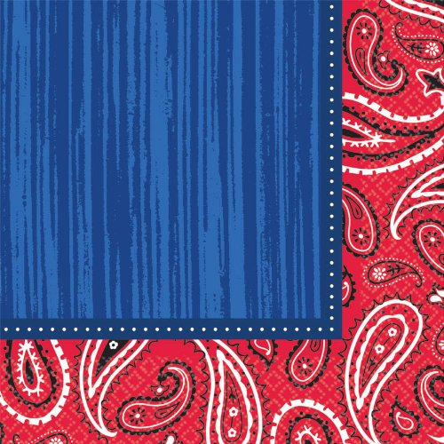 Bandana and Blue Jeans Luncheon Napkins