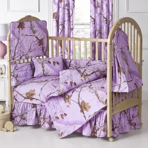 Realtree Ap Lavender Crib Diaper Stacker front-1006478
