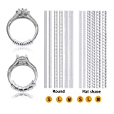 Ring Size Adjuster with Polishing Cloth, 6 Sizes Fit for Any Rings, Clear Ring Sizer, Perfect for Loose Rings (12 Packs) (Color: 12 Packs, Tamaño: 4 inches)