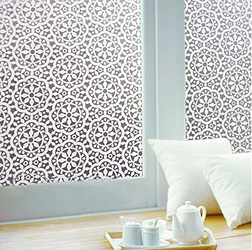 Bloss Geometric Flower Privacy Crystal Static Cling Window Film (Rice Paper Window Cling compare prices)