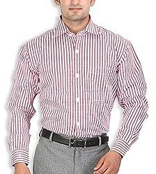 SPEAK Red & White Stripes Egyptian Cotton Mens Formal Shirt