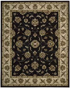 Nourison Mahal Black/Ivory Persian 8-Feet by 10-Feet 100-Percent Wool Room Size Rug