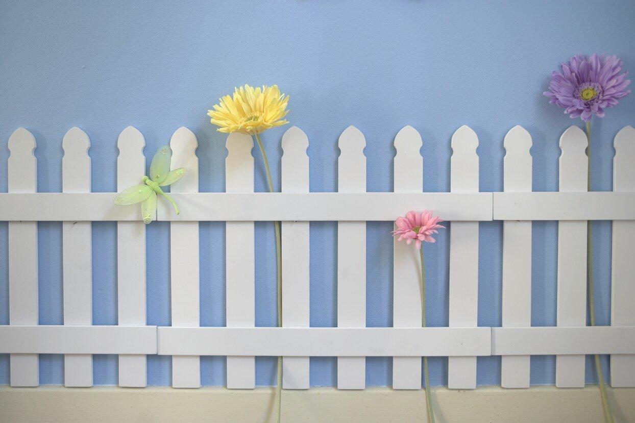 picket fence decor for kids bedroom walls
