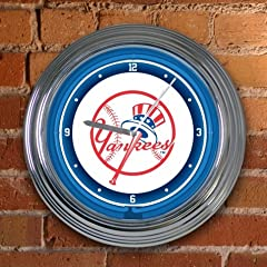 MLB 15 inch Neon Wall Clock by Memory Company