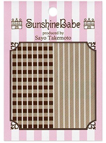 SunshineBabe ネイルシール シェパードチェック ブラウン 3mm