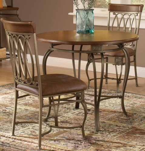 Dining room chairs hillsdale montello round 36 inch diameter 3 piece table dining set old - Inch diameter dining table ...