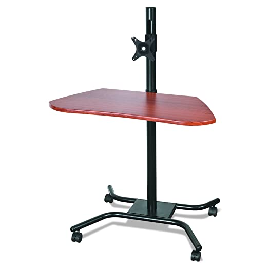 MooreCo 90329 Cherry computer desk - computer desks (Steel, Laminate, Cherry, 4 wheel(s), 800.1 mm, 673.1 mm)