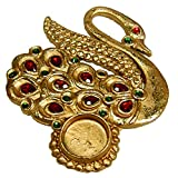 Artistique Antique Look Peacock Shaped Tea Light Holder With Beautiful Stone Work