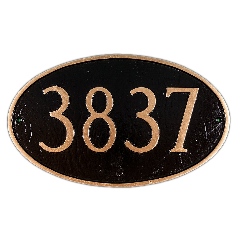 Montague Metal Products 8.5 by 13.75-Inch Oval Address plaque, Standard