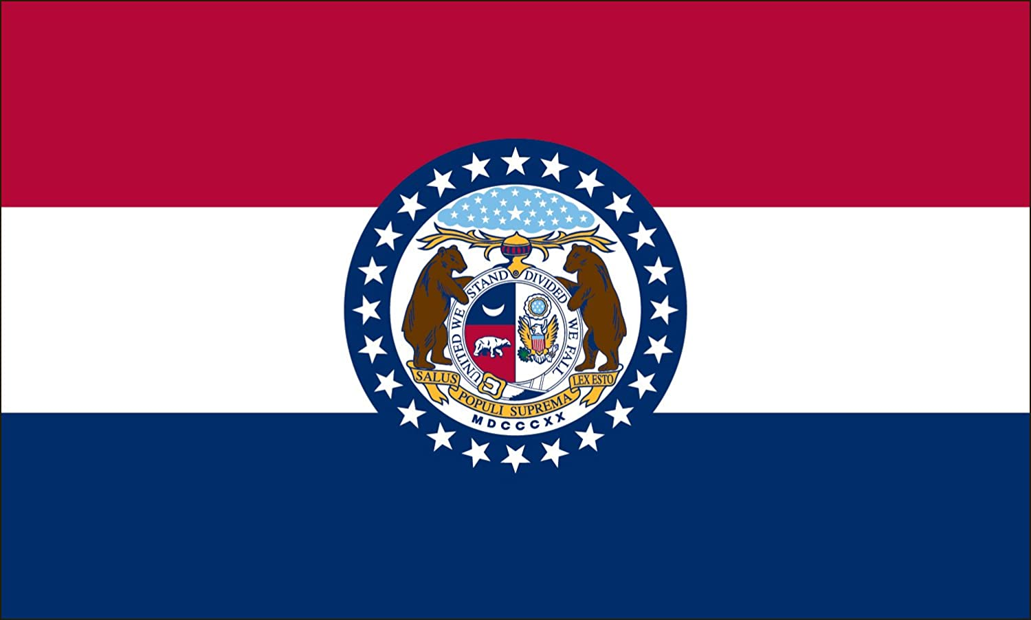 Missouri State Flag Coloring Pages - USA for Kids