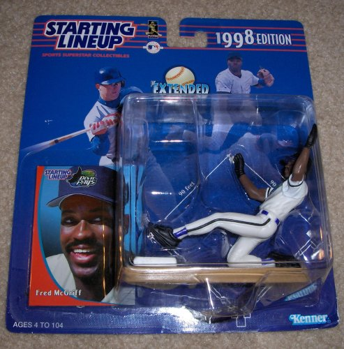 1998 Edition - Kenner - Starting Lineup - Extended Series - Fred McGriff #27 - Tampa Bay Devil Rays - Vintage Action Figure - w/ Trading Card - Limited Edition - Collectible
