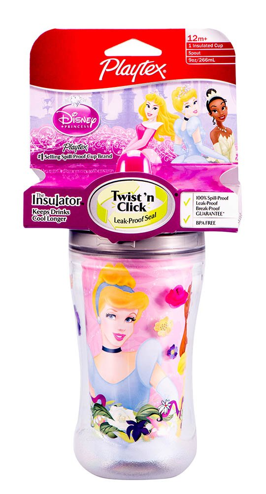 Playtex Insulator Disney Girl Cup 9oz. 24/1pk