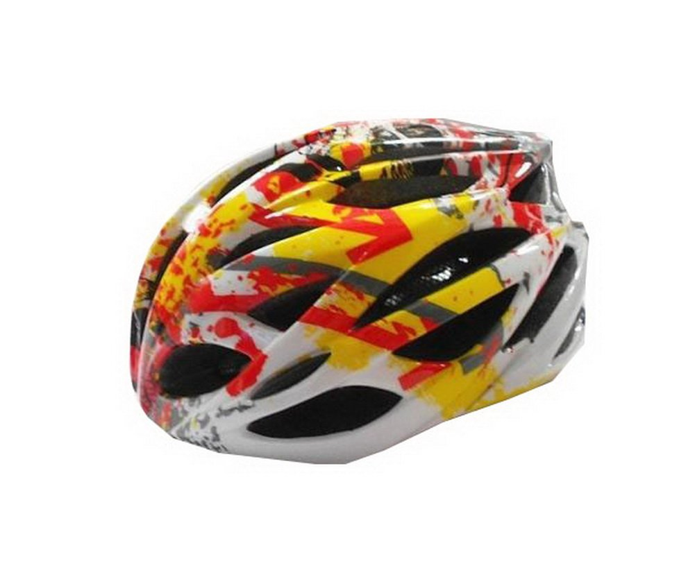 Printed Cycling Helmet Men's Pro Bike Helmet Ultra Light with Insect Proof Net