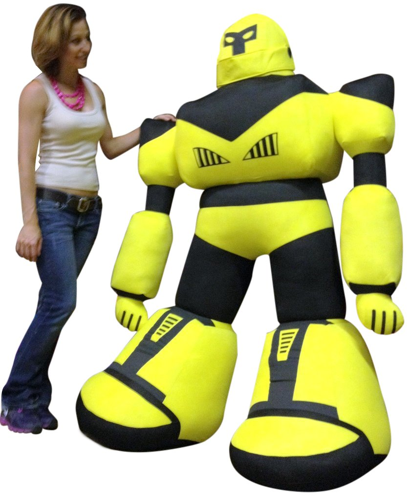 Lifesize Giant Stuffed Robot Stands