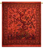 Tree Of Life Tapestry Beach Blanket Hippie Bohemian Tapestries Twin Size Tape...