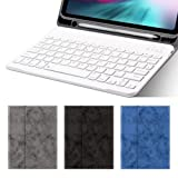 iPad Pro 12.9 2018(3rd Gen) Keyboard Case with Built-in Apple Pencil Holder, Business Detachable Magnetic Keyboard Smart Fip Folio Stand Cover [Support Wireless Charging] (iPad Pro 12.9 2018, Gray) (Color: Gray, Tamaño: iPad Pro 12.9 2018)