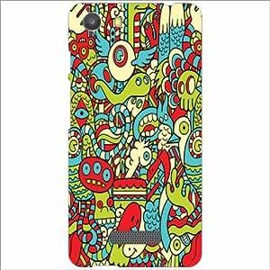 Design Worlds - Micromax Unite 3 Q372 Designer Back Cover Case - Multicolor...