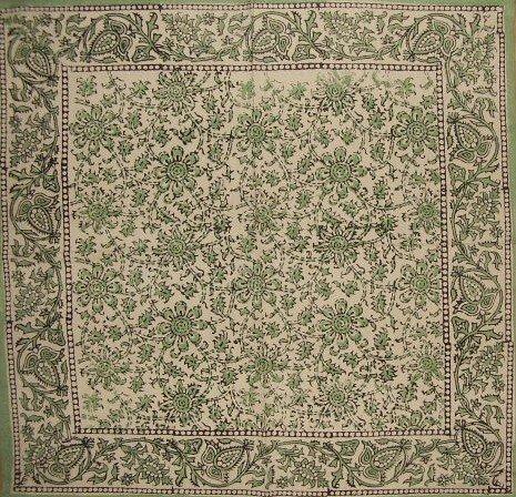 Daisy Chain Block Print Napkin-Table Linen-Gorgeous