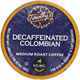 Timothy's Decaf Colombian K-Cup Counts for Keurig Brewers, 50 count