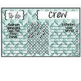 Dry Erase Chore Chart Magnet: Herringbone Teal