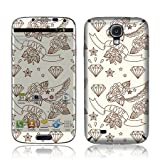 TaylorHe Vinyl Skins for Samsung Galaxy S4 i9500 Ultra-slim Perfect Fit Made in Britain Colourful Decal With Patterns ribbon, love, diamond