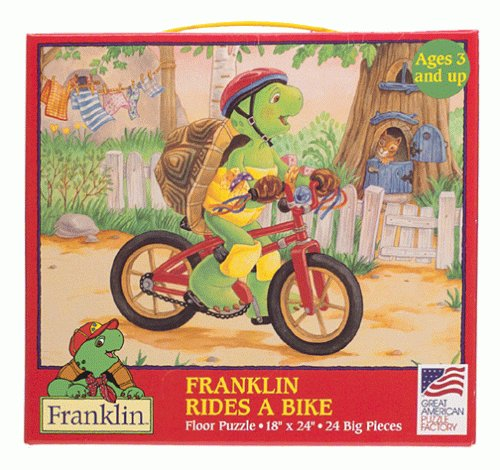 Cheap Great America Franklin Rides a Bike Floor Puzzle (B00000ISI6)