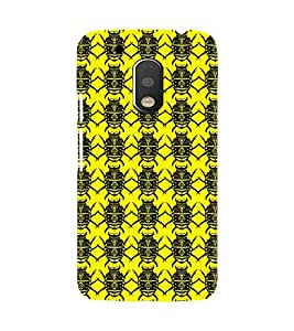 Printvisa Yellow And Black Beetle Pattern Back Case Cover for Motorola Moto G4 PLUS