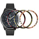 ANCOOL Bezel Ring Compatible Samsung Galaxy Watch 42mm/Gear Sport Adhesive Cover Anti Scratch Stainless Steel Protection Design for Galaxy Watch Accessory-3 Pack (Color: Q-22, Tamaño: 42mm)