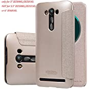 "Asus Zenfone 2 Laser 5"" ZE500KL Leather Flip Case, Nillkin Sparkle Smart Sleep PU Leather Flip Cover Case [NOT..."