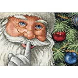 Gold Petites Santa's Secret Counted Cross Stitch Kit-7