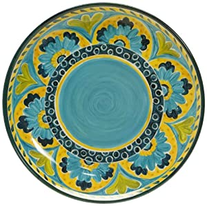 Certified International Mexican Tile Round Platter, 14-Inch by Certified International