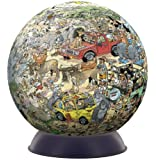 Jan van Haasteren 3D Puzzle-A-Round Jigsaw and Stand Safari (240 Pieces)