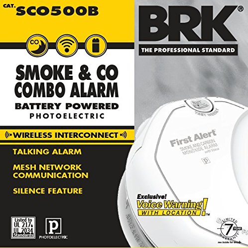 first alert sco500b interconnected wireless battery combination smoke co voic. Black Bedroom Furniture Sets. Home Design Ideas