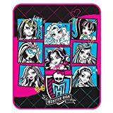 Mattel Microraschel Throw, 46-Inch by 60-Inch, Monster High Ghoul Group