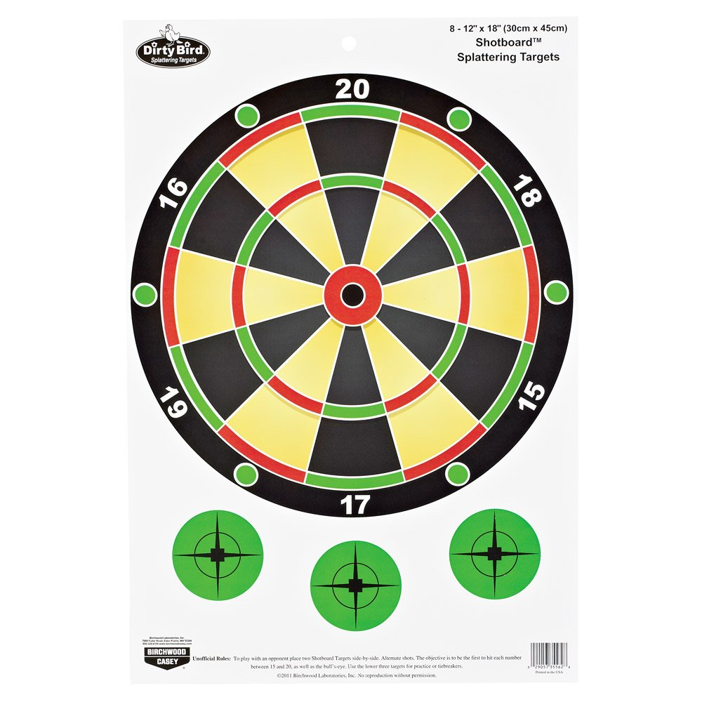 1000 Inch Target 18-inch Shotboard Target