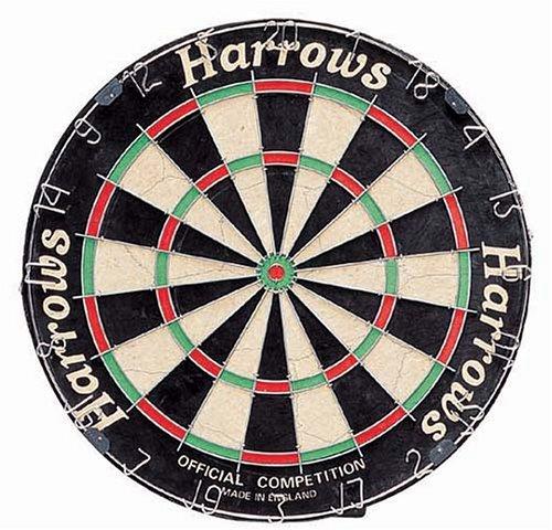 Harrows Matchplay, Official Competition, Bersaglio per freccette, colore: Nero/Rosso/Bianco/Verde