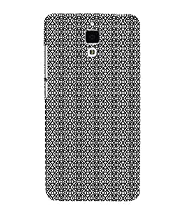 EPICCASE black&white Mobile Back Case Cover For Xiaomi Mi4 (Designer Case)