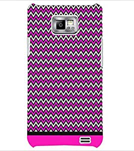 PrintDhaba Zig Zag Pattern D-1700 Back Case Cover for SAMSUNG GALAXY S2 (Multi-Coloured)