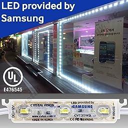 Crystal Vision CVT3SW3K-KIT50 LED Storefront Window Kit/Plug & Play Samsung LED Bulb Made in Korea 50 ft., White